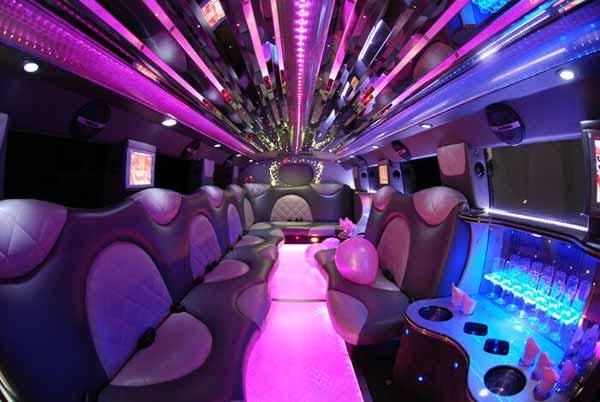Cadillac Escalade limo interior tampa